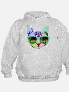Rainbow Music Cat Hoodie