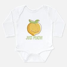 Funny Peach girl Long Sleeve Infant Bodysuit