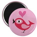 Valentine Song Bird Pink Magnet