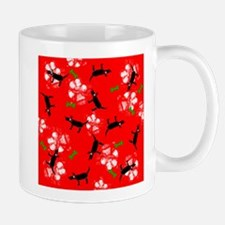 Dogs on Paws Green and Red! Mug