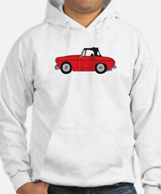 Red MG Midget Cartoon Hoodie