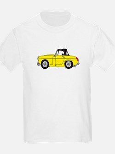 Yellow MG Midget Cartoon T-Shirt