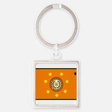 Unique Nation flag Square Keychain