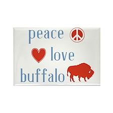 Cute Buffalo Rectangle Magnet (10 pack)