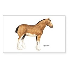 Clydesdale Horse Rectangle Decal