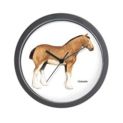 Clydesdale Horse Wall Clock