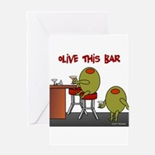 Olive This Bar Greeting Card