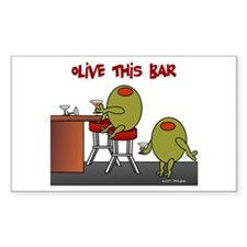 Olive This Bar Rectangle Decal