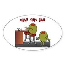 Olive This Bar Oval Decal