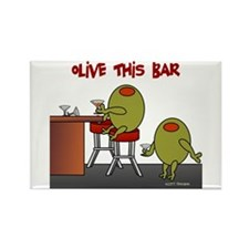 Olive This Bar Rectangle Magnet