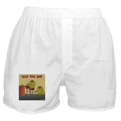Olive This Bar Boxer Shorts