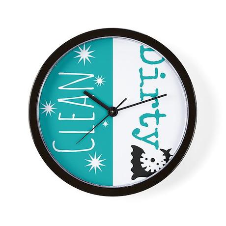 Clean Dirty Wall Clock by Admin_CP114207546