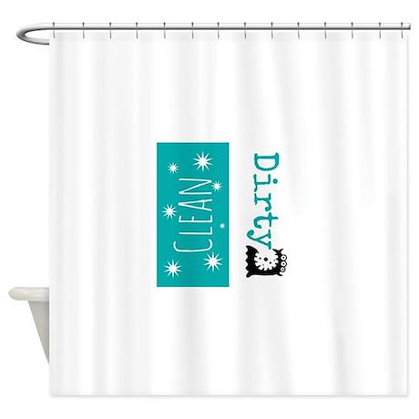 Clean Dirty Shower Curtain