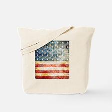 Cute Vintage american flag Tote Bag