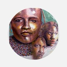 3 Faces of Africa Ornament (Round)