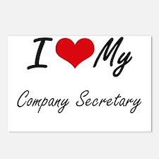 I love my Company Secreta Postcards (Package of 8)