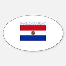 Paraguay Oval Decal