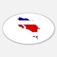 Unique Costa map rica Decal
