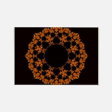 Orange symbol Rectangle Magnet