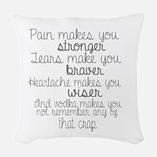 vodka humor Woven Throw Pillow