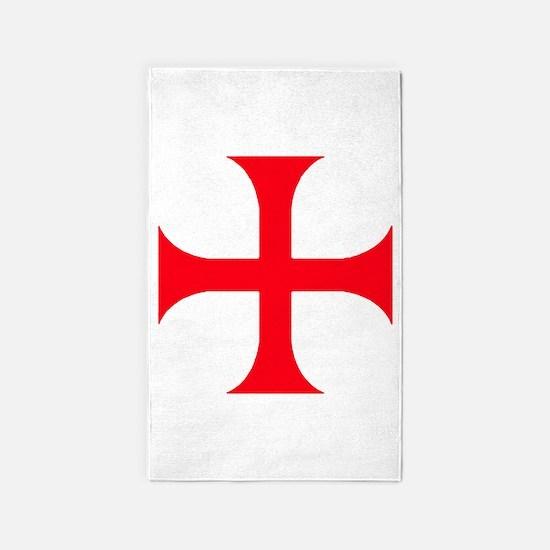 Templar Red Cross Area Rug