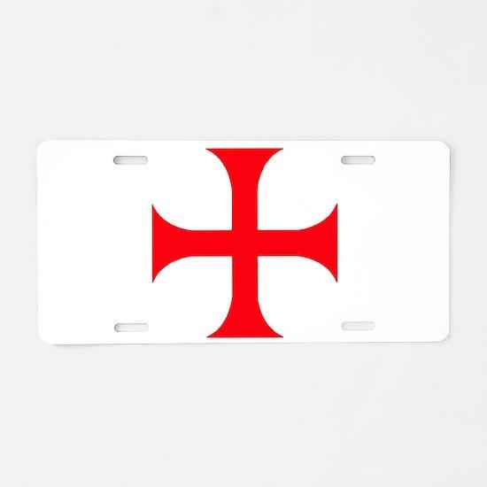 Templar Red Cross Aluminum License Plate