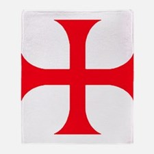 Templar Red Cross Throw Blanket
