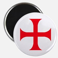 "Templar Red Cross 2.25"" Magnet (100 pack)"