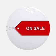 Red Tag Sale - On Sale Round Ornament