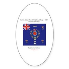 """""""Black Watch"""" Oval Decal"""