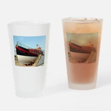 Lifeboat, Land's End, England Drinking Glass