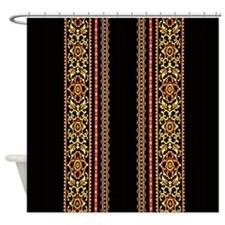 Baroque Stripe Shower Curtain