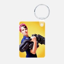 Rosie The Camera Woman Aluminum Keychains