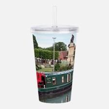Barge & statue, Stratf Acrylic Double-wall Tumbler