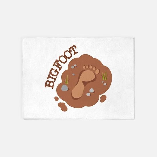 Bigfoot Footprint 5'x7'Area Rug