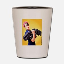 Rosie the Camera Woman Shot Glass
