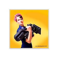 Rosie The Camera Woman Square Sticker