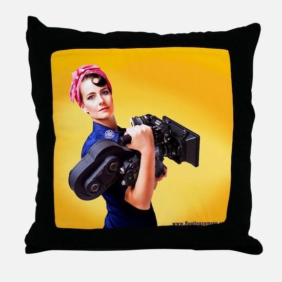 Rosie the Camera Woman Throw Pillow