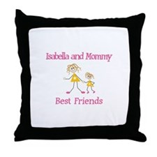 Isabella & Mommy - Friends Throw Pillow