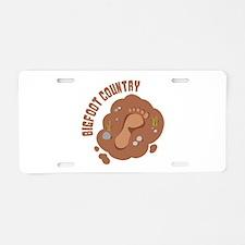 Bigfoot Country Aluminum License Plate