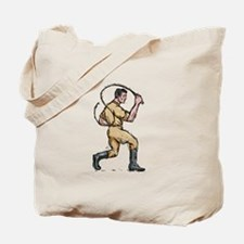 Lion Tamer Bullwhip Isolated Drawing Tote Bag