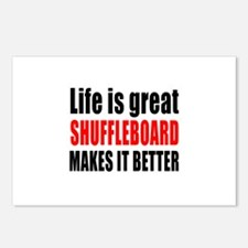 Life is great Shuffleboar Postcards (Package of 8)