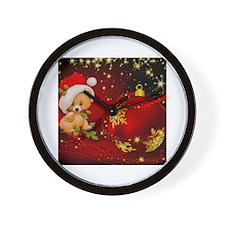 Cool Christmas bear Wall Clock