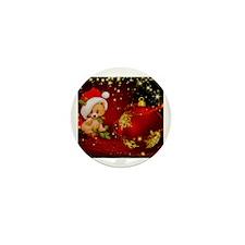 Funny Christmas bear Mini Button