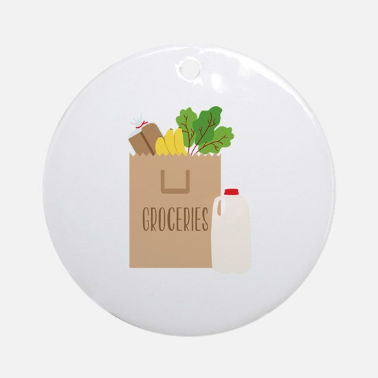 Groceries Round Ornament