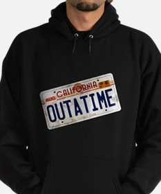Back to the Future License Plate Hoodie (dark)