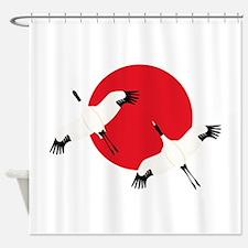 Flying Crane Shower Curtain