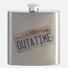 Back to the Future License Plate Flask