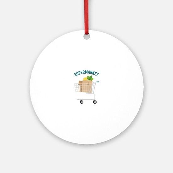 Supermarket Round Ornament