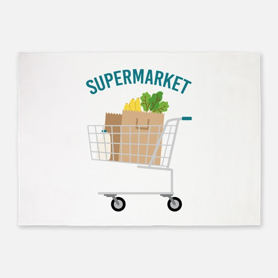 Supermarket 5'x7'Area Rug
